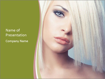 Young Model With Blond Hair PowerPoint Template