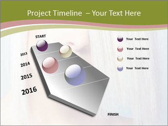 Young Model With Blond Hair PowerPoint Templates - Slide 26