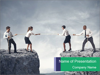 Risky Competition PowerPoint Template - Slide 1