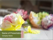 Flowers On Wooden Floor PowerPoint Templates