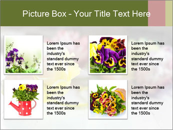 Flowers On Wooden Floor PowerPoint Template - Slide 14