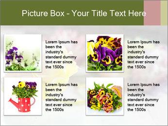 Flowers On Wooden Floor PowerPoint Template - Slide 14