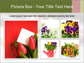 Flowers On Wooden Floor PowerPoint Template - Slide 19