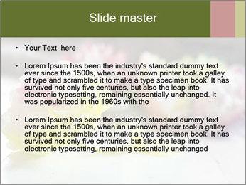 Flowers On Wooden Floor PowerPoint Template - Slide 2