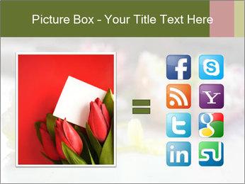 Flowers On Wooden Floor PowerPoint Template - Slide 21