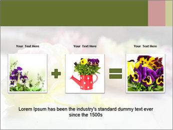 Flowers On Wooden Floor PowerPoint Template - Slide 22