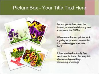 Flowers On Wooden Floor PowerPoint Template - Slide 23