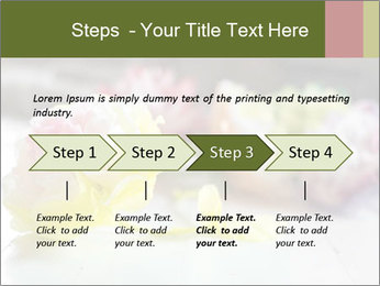 Flowers On Wooden Floor PowerPoint Template - Slide 4