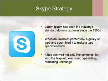 Flowers On Wooden Floor PowerPoint Template - Slide 8