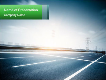 New Freeway PowerPoint Template - Slide 1