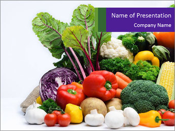 Colorful Vegetables PowerPoint Templates - Slide 1