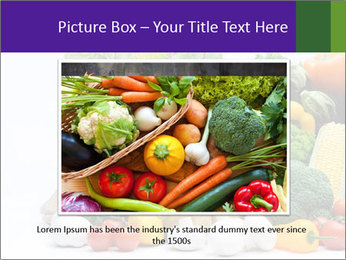 Colorful Vegetables PowerPoint Templates - Slide 16
