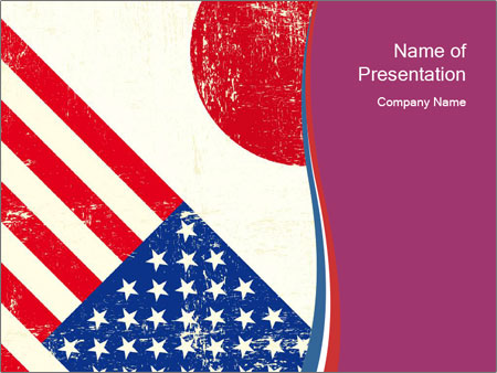 american and japanese flags powerpoint template & backgrounds id, Powerpoint templates