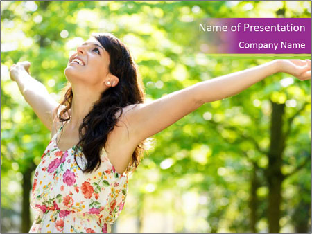 Free Woman PowerPoint Template