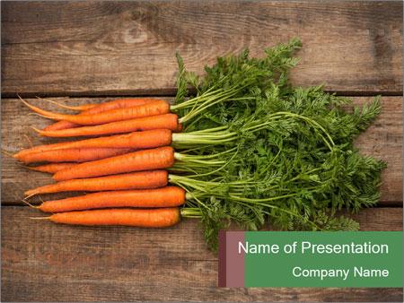 Organic Carrots PowerPoint Templates