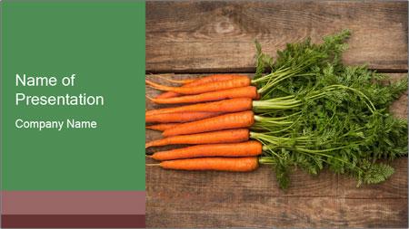 Organic Carrots PowerPoint Template