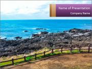 Nobody On The Coast PowerPoint Templates
