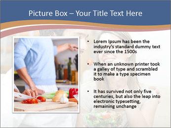Woman Feeds Her Husband PowerPoint Templates - Slide 13