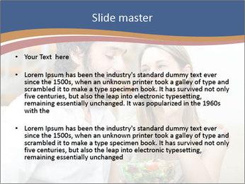Woman Feeds Her Husband PowerPoint Templates - Slide 2