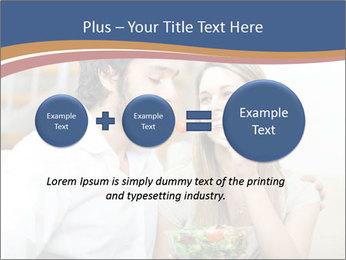 Woman Feeds Her Husband PowerPoint Templates - Slide 75
