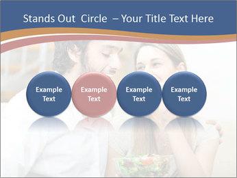 Woman Feeds Her Husband PowerPoint Templates - Slide 76
