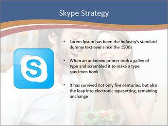 Woman Feeds Her Husband PowerPoint Templates - Slide 8