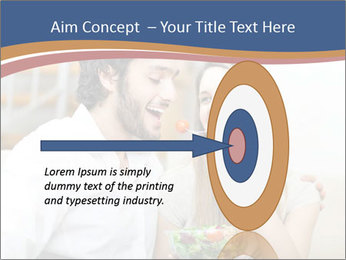 Woman Feeds Her Husband PowerPoint Templates - Slide 83
