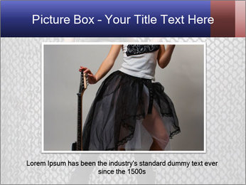 Sexy Woman With Weapon PowerPoint Template - Slide 16