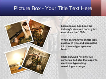 Sexy Woman With Weapon PowerPoint Template - Slide 23