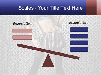 Sexy Woman With Weapon PowerPoint Template - Slide 89