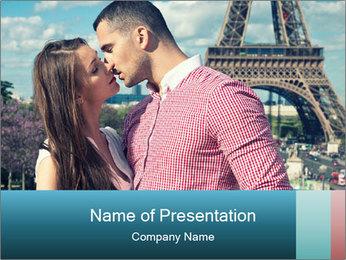 Kiss In Paris PowerPoint Template