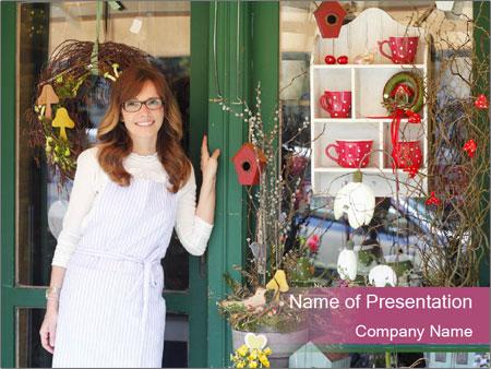 Woman Florist PowerPoint Template