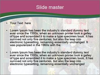 Woman Florist PowerPoint Template - Slide 2