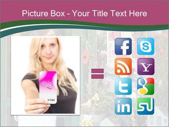Woman Florist PowerPoint Template - Slide 21