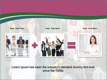 Woman Florist PowerPoint Template - Slide 22