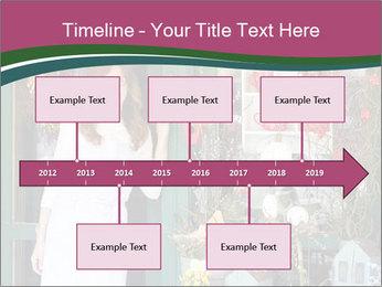 Woman Florist PowerPoint Template - Slide 28
