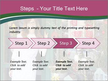 Woman Florist PowerPoint Template - Slide 4