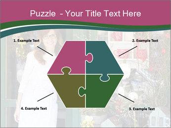 Woman Florist PowerPoint Template - Slide 40