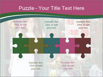 Woman Florist PowerPoint Template - Slide 41
