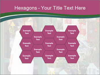 Woman Florist PowerPoint Template - Slide 44