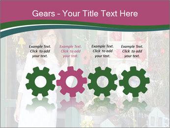 Woman Florist PowerPoint Template - Slide 48