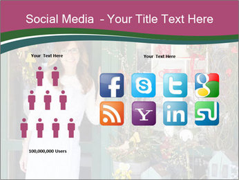 Woman Florist PowerPoint Template - Slide 5