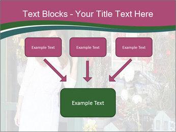 Woman Florist PowerPoint Template - Slide 70