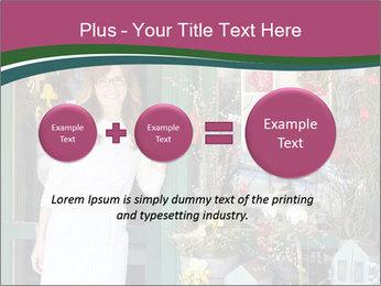 Woman Florist PowerPoint Template - Slide 75