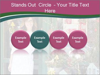 Woman Florist PowerPoint Template - Slide 76