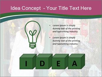 Woman Florist PowerPoint Template - Slide 80
