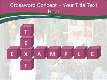 Woman Florist PowerPoint Template - Slide 82