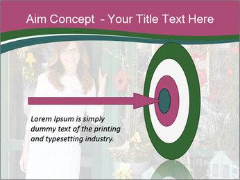 Woman Florist PowerPoint Template - Slide 83