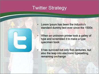 Woman Florist PowerPoint Template - Slide 9