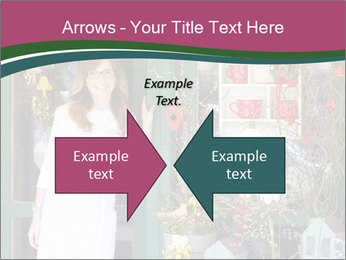 Woman Florist PowerPoint Template - Slide 90